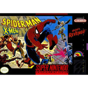 Spider-Man / X-Men Arcade's Revenge Super Nintendo SNES Game for sale box pic.