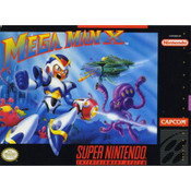 Mega Man X - SNES Game Front Box Cover
