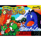 Super Mario World 2 Yoshi's Island - SNES Game box front cover