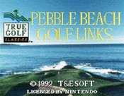 Pebble Beach Golf Links - SNES Game