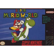 Super Mario World SNES box front