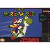 Super Mario World SNES box front