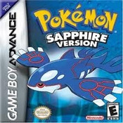 Pokemon Sapphire Version - Game Boy Advance Box Art