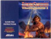 Iron Sword: Wizards and Warriors II(2) - NES Manual