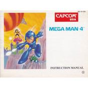Mega Man 4 Manual For Nintendo NES