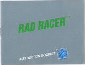 Rad Racer (Silver & Green)- NES Manual