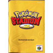 Pokemon Stadium 2 Manual For Nintendo N64