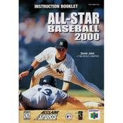 All Star Baseball 2000 - N64 Manual
