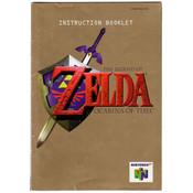 Legend of Zelda Ocarina of Time Manual For Nintendo N64