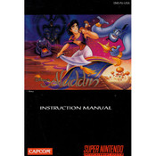 Original Disney's Aladdin SNES Manual in Color