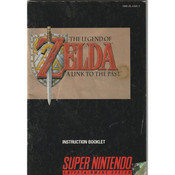 Legend of Zelda A Link To the Past Manual For Nintendo SNES