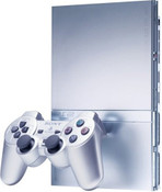 Sony Playstation 2 PS2 Slim Silver System with 1 Controller