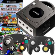 GameCube Black Super Smash Kart Pak