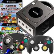 GameCube Black Super Smash Kart Pak