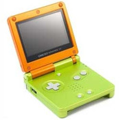 Game Boy Advance SP Citrus with Charger