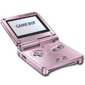 Game Boy Advance SP Pearl Pink with Charger