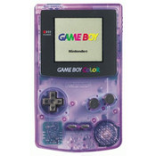 Game Boy Color System Clear Purple