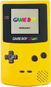 Game Boy Color System Yellow