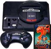 Sega Genesis Sonic 2 Pak