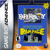 Paperboy/Rampage Complete Game For Nintendo GBA