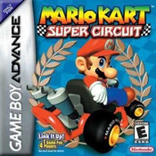 Mario Kart Super Circuit GBA Gameboy Advance CIB Complete in box Game for Sale.
