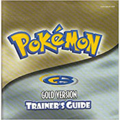 Pokemon Gold Manual For Nintendo GBC