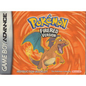 Pokemon Fire Red Version Manual For Nintendo GBA