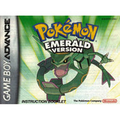 Pokemon Emerald Version Manual For Nintendo GBA