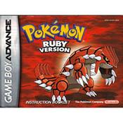 Pokemon Ruby Version Manual For Nintendo GBA