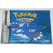 Pokemon Sapphire Version Manual For Nintendo GBA