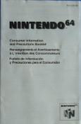 Consumer Information and Precautions - N64 Manual