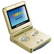 Game Boy Advance SP Gold with Charger