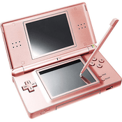 intendo DS Lite Metallic Rose with Charger