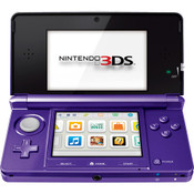 Nintendo 3DS Purple Handheld System w/ Charger