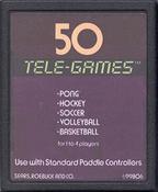 50 Tele Games (Pong Sports) - Atari 2600 Game