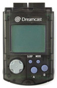 Original VMU Memory Card Black - Dreamcast