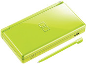Nintendo DS Lite Green with Stylus closed