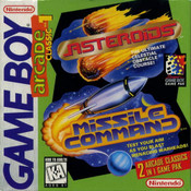 Arcade Classic 1 Asteroids & Missile Command - Game Boy Game