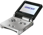 Game Boy Advance SP System Black and Silver w/Charger