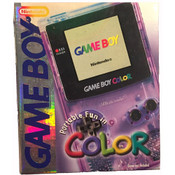 Complete Game Boy Color System Clear Purple in Box