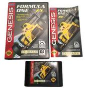 Formula One Complete CIB genesis game, cartridge, box and manual.