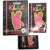 Complete Klax Sega Genesis CIB game for sale.