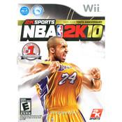 NBA 2K10 NBA Basketball (Kobe Bryant) Wii Nintendo used video game for sale online.