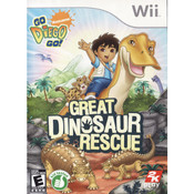 Great Dinosaur Rescue Wii Nintendo used video game for sale online.