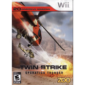 Twin Strike Operation Thunder Wii Nintendo used video game for sale online.