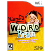 Margot's Word Brain Video Game for Nintendo Wii
