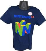 N64 Logo Navy Blue Officially Licensed Nintendo 64 T-Shirt