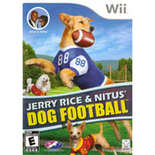 Jerry Rice and Nitus' Dog Football Video Game for Nintendo Wii