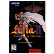 Lufia II Rise of the Sinistrals Manual For Nintendo SNES