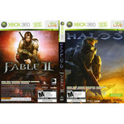Halo 3 & Fable II Video Games for Microsoft Xbox 360